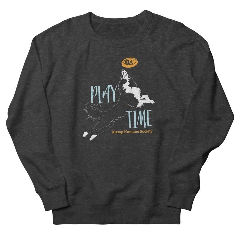 Play Time Women's French Terry Sweatshirt by Kitsap Humane Society's Artist Shop