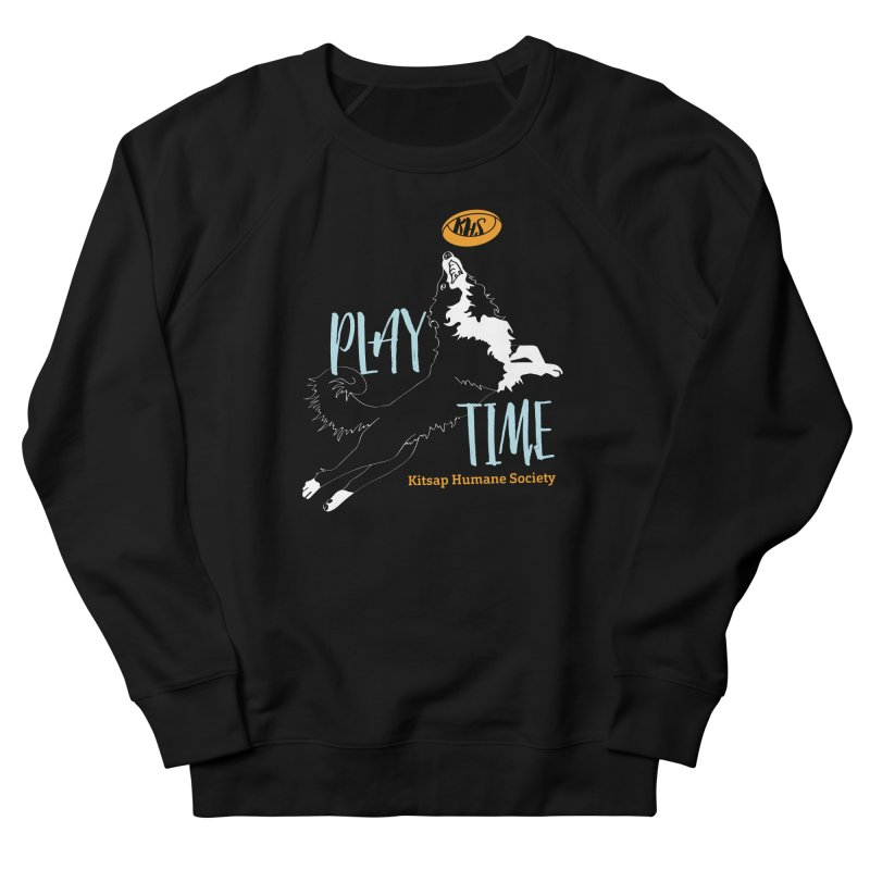 Play Time Women's French Terry Sweatshirt by Kitsap Humane Society's Artist Shop