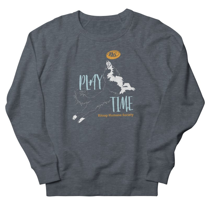 Play Time Men's French Terry Sweatshirt by Kitsap Humane Society's Artist Shop