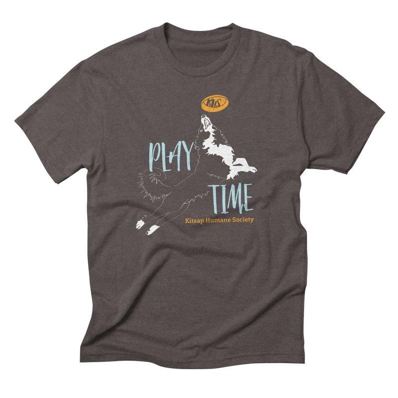 Play Time Men's Triblend T-Shirt by Kitsap Humane Society's Artist Shop