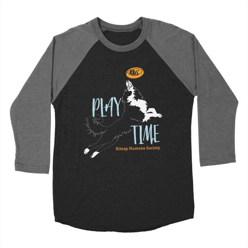 Play Time Women's Baseball Triblend Longsleeve T-Shirt by Kitsap Humane Society's Artist Shop