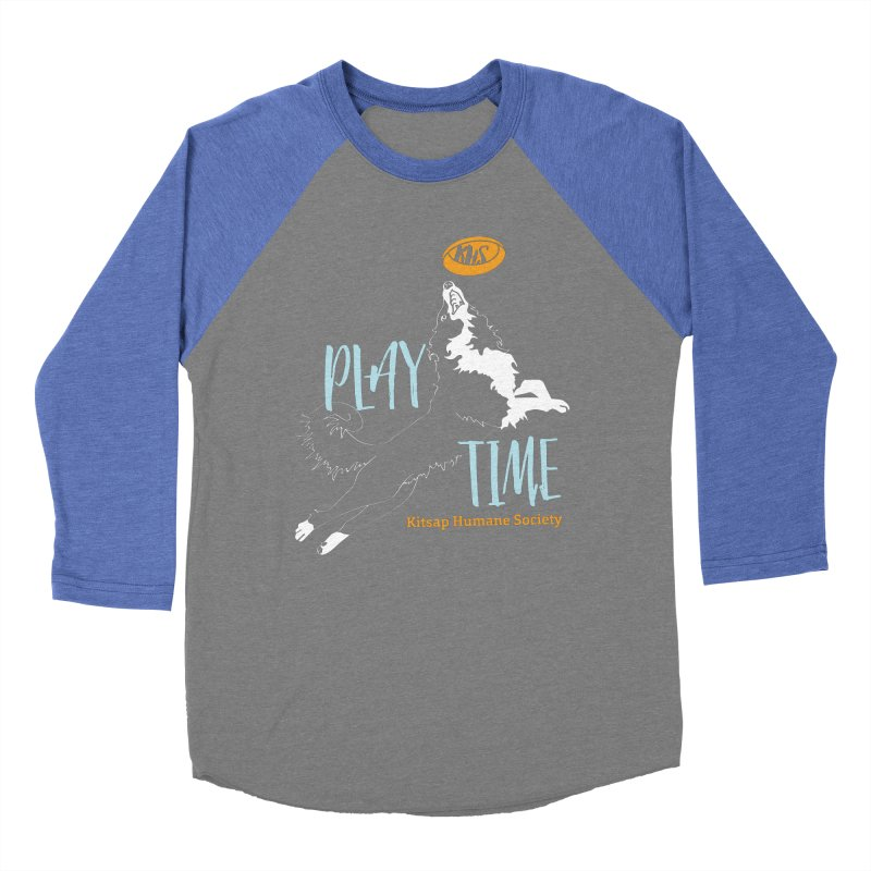 Play Time Men's Baseball Triblend Longsleeve T-Shirt by Kitsaphumanesociety's Artist Shop