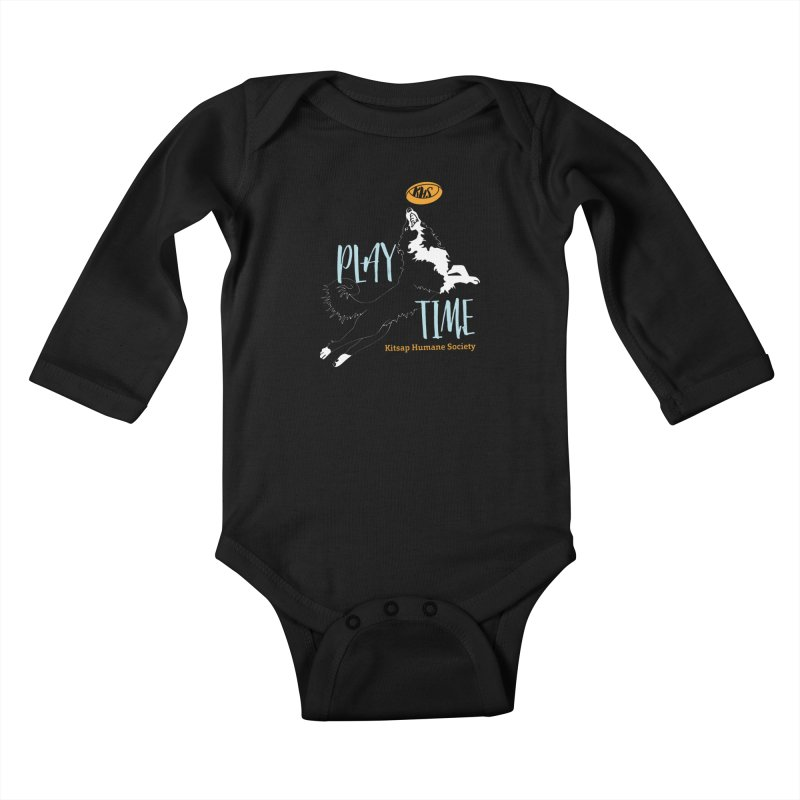 Play Time Kids Baby Longsleeve Bodysuit by Kitsaphumanesociety's Artist Shop
