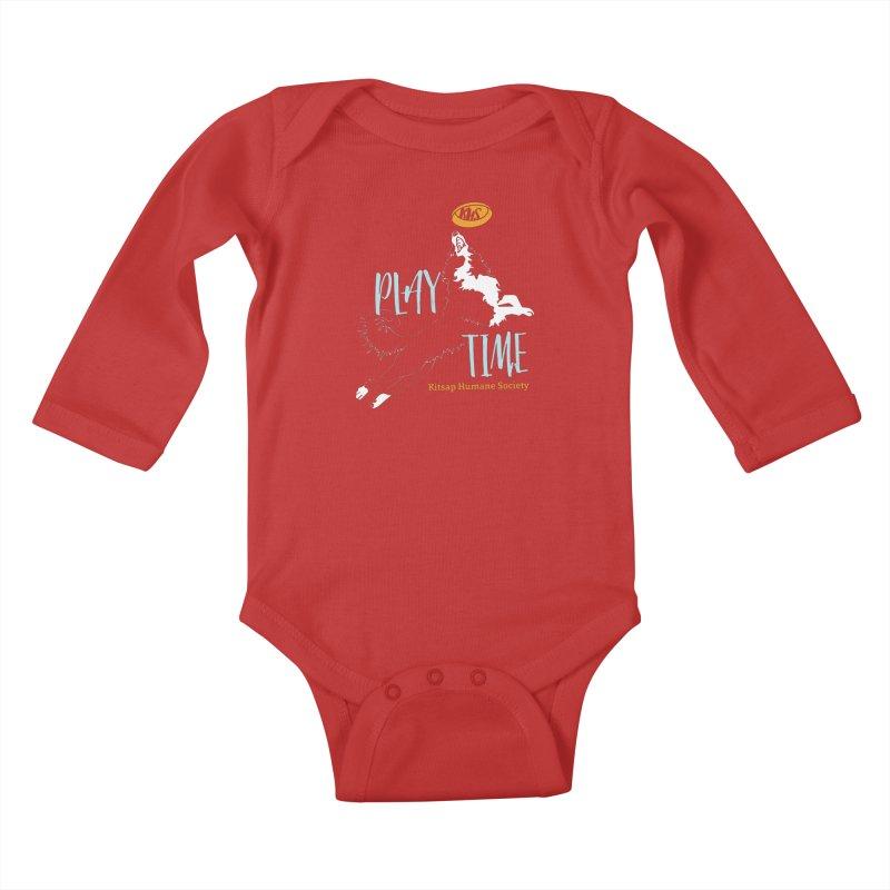 Play Time Kids Baby Longsleeve Bodysuit by Kitsap Humane Society's Artist Shop