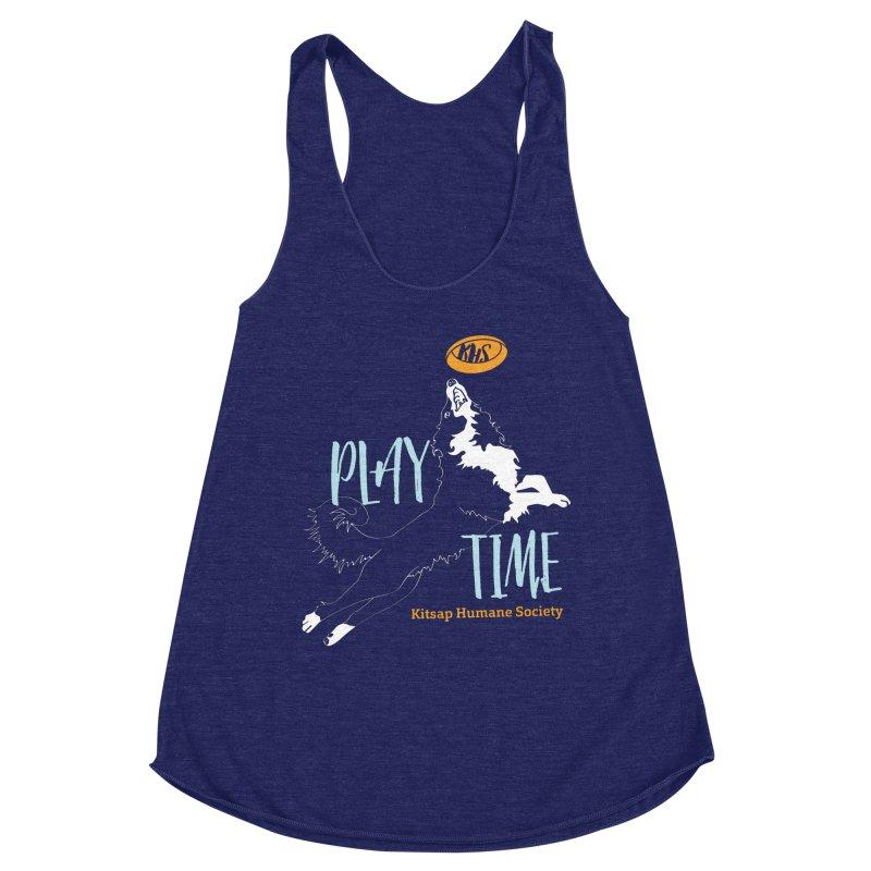 Play Time Women's Racerback Triblend Tank by Kitsap Humane Society's Artist Shop