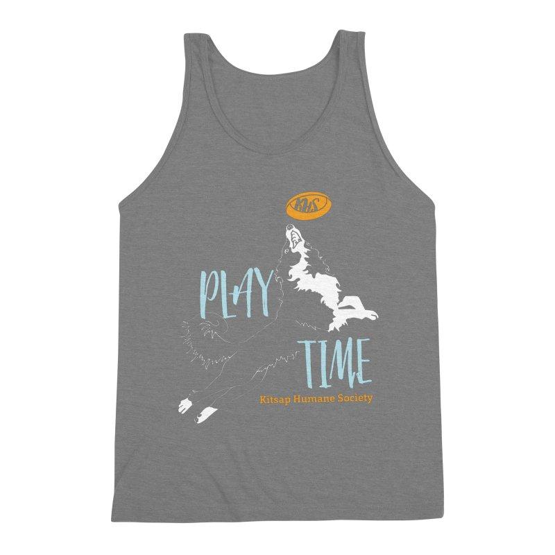 Play Time Men's Triblend Tank by Kitsap Humane Society's Artist Shop