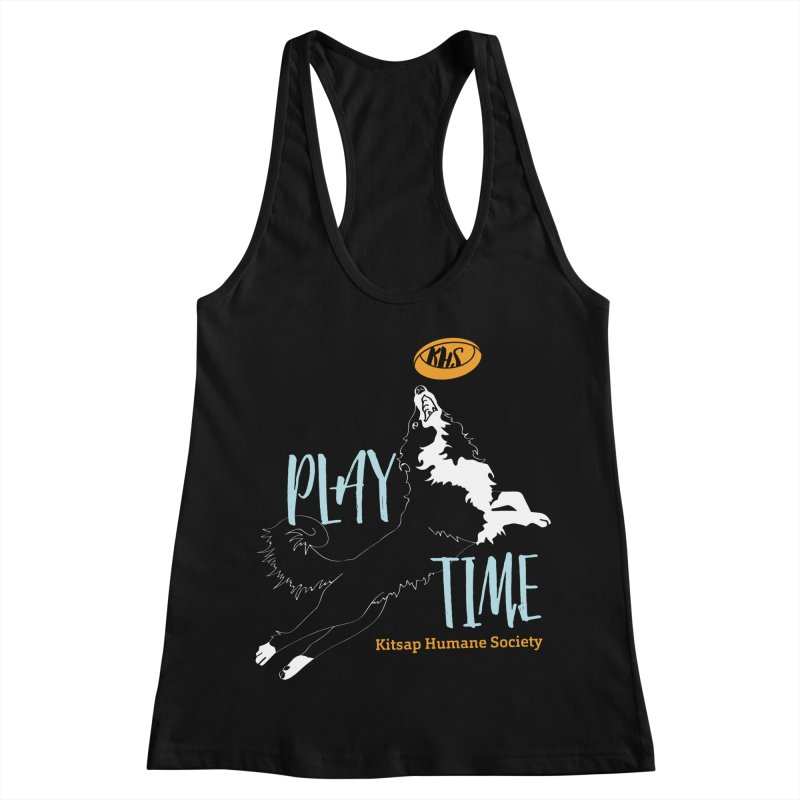Play Time Women's Racerback Tank by Kitsap Humane Society's Artist Shop
