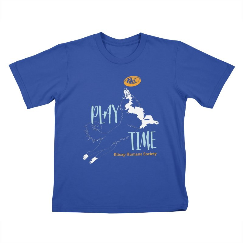 Play Time Kids T-Shirt by Kitsap Humane Society's Artist Shop