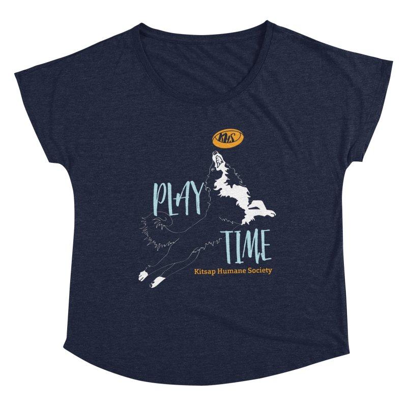 Play Time Women's Dolman Scoop Neck by Kitsap Humane Society's Artist Shop