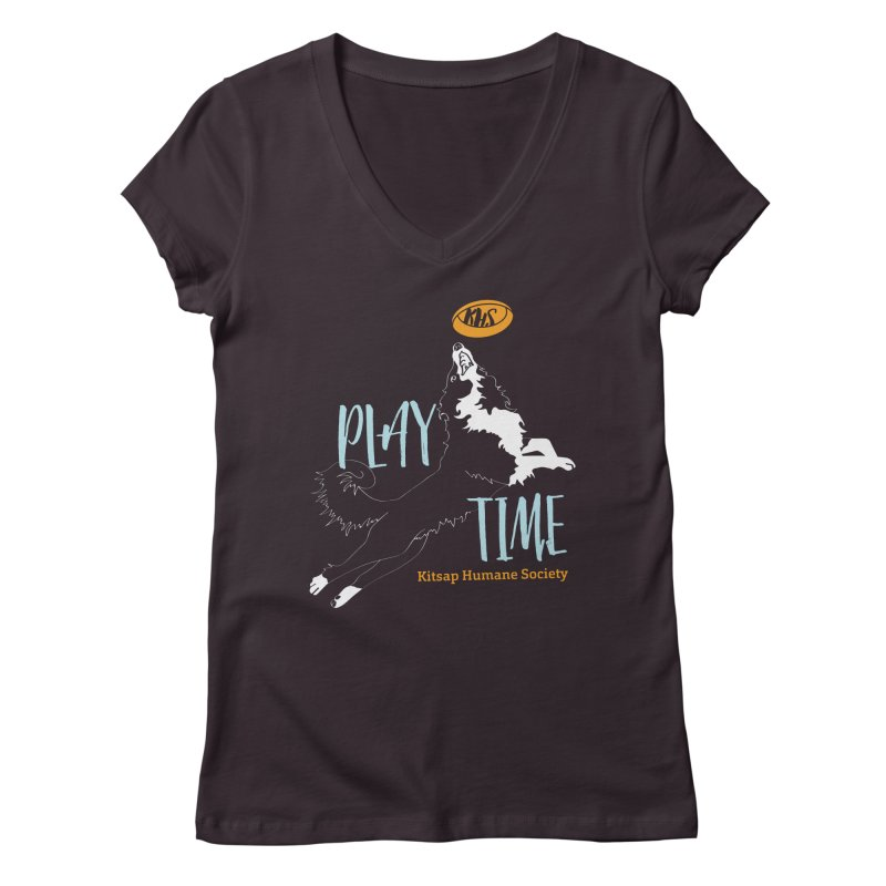 Play Time Women's Regular V-Neck by Kitsaphumanesociety's Artist Shop