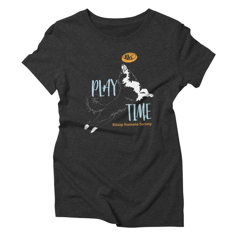 Play Time Women's Triblend T-Shirt by Kitsap Humane Society's Artist Shop
