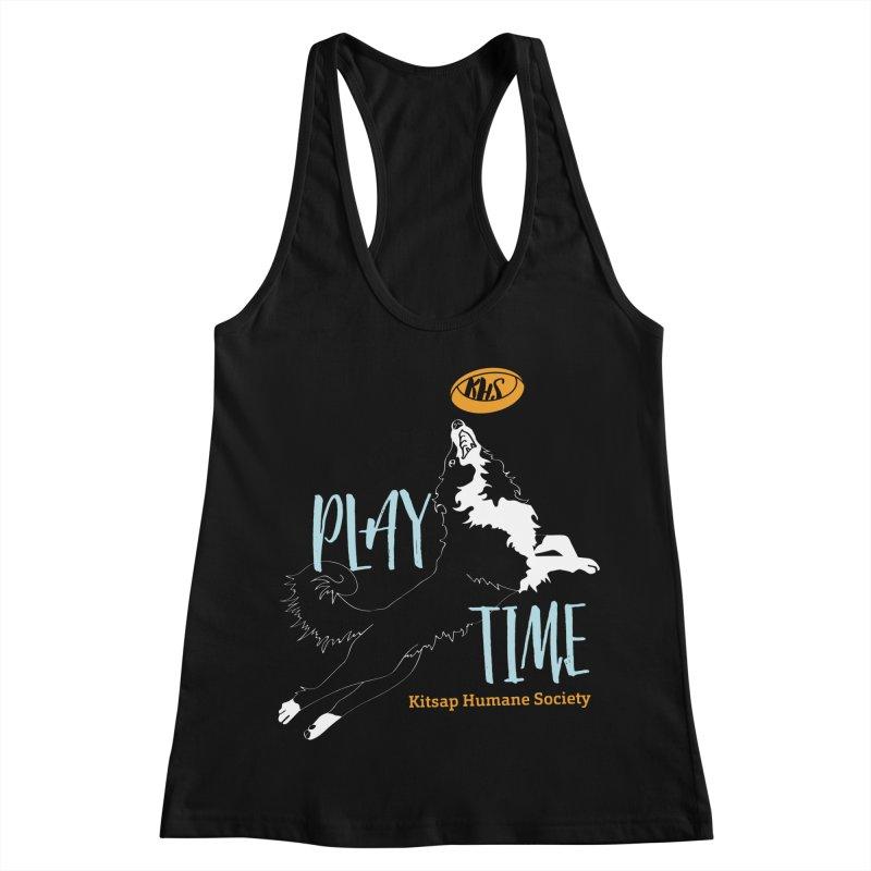 Play Time Women's Racerback Tank by Kitsap Humane Society's Artist Shop