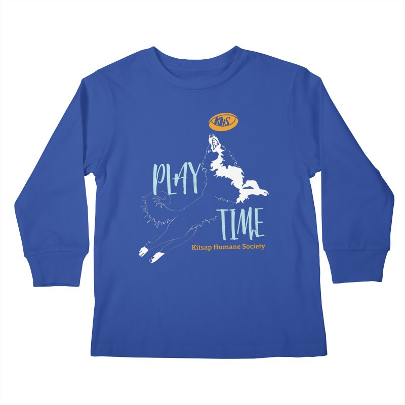 Play Time Kids Longsleeve T-Shirt by Kitsap Humane Society's Artist Shop