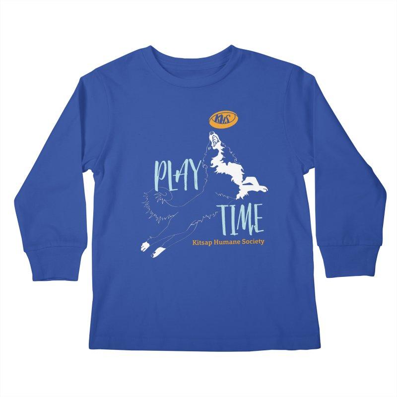Play Time Kids Longsleeve T-Shirt by Kitsap Humane Society's Artist Shop