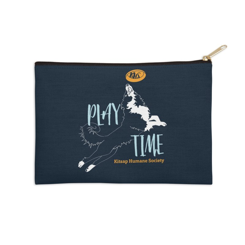 Play Time Accessories Zip Pouch by Kitsap Humane Society's Artist Shop