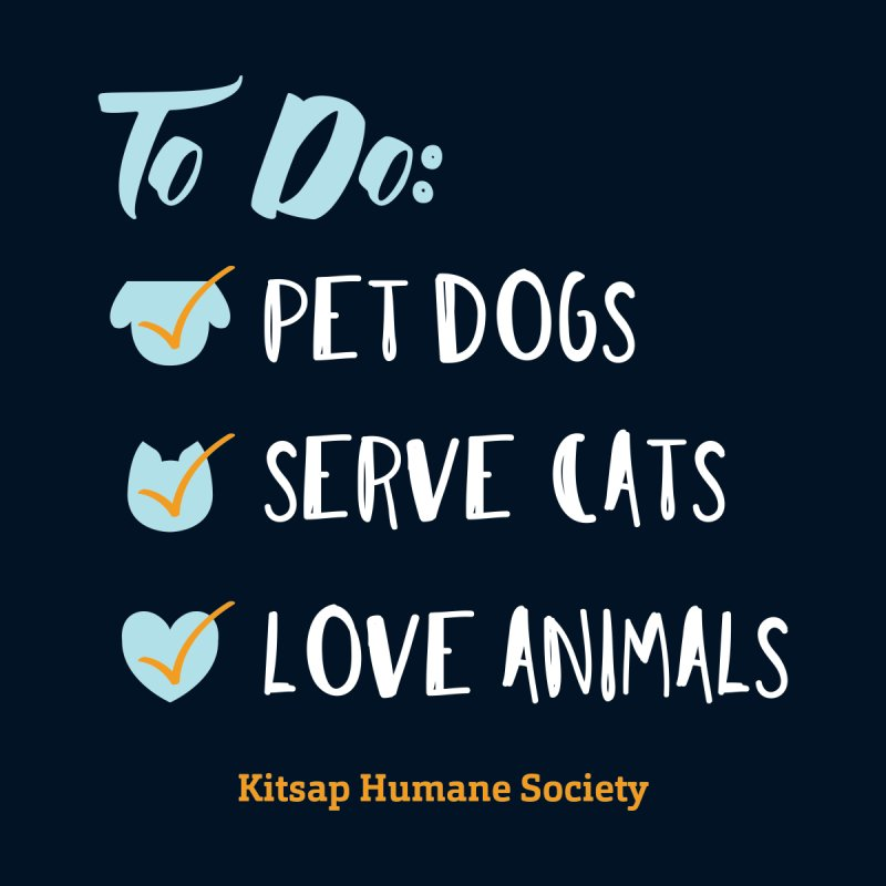 To Do: Love Animals Men's Longsleeve T-Shirt by Kitsap Humane Society's Artist Shop