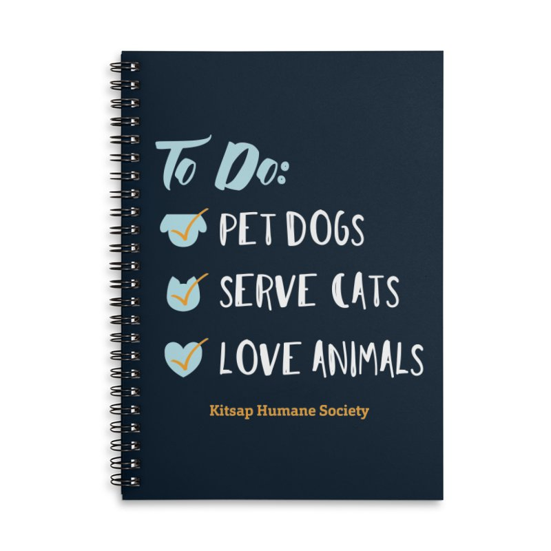 To Do: Love Animals Accessories Lined Spiral Notebook by Kitsap Humane Society's Artist Shop