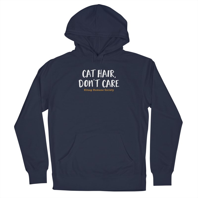 Cat Hair, Don't Care Men's Pullover Hoody by Kitsap Humane Society's Artist Shop