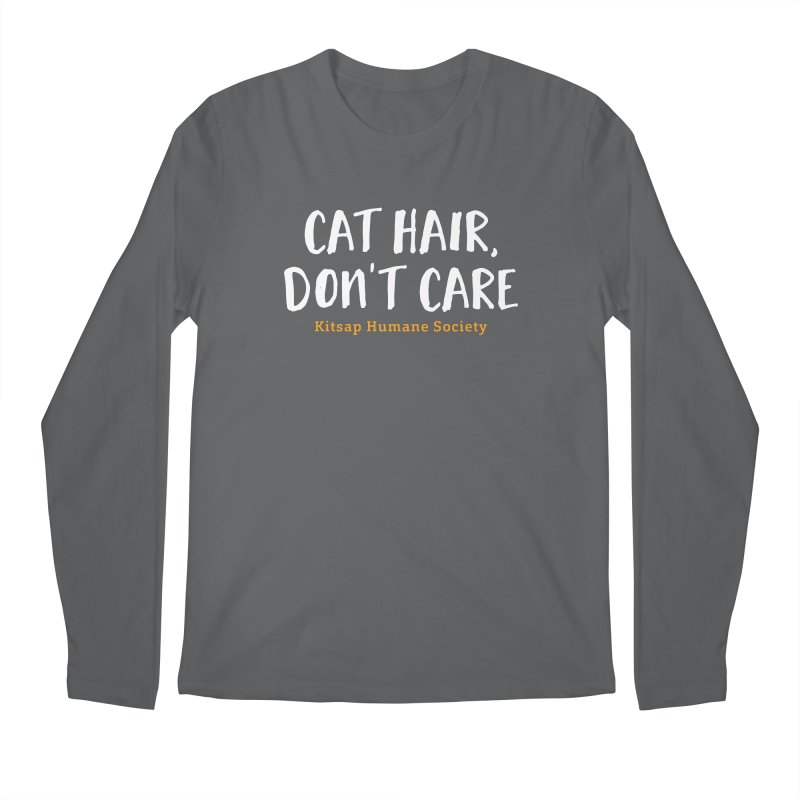 Cat Hair, Don't Care Men's Longsleeve T-Shirt by Kitsap Humane Society's Artist Shop