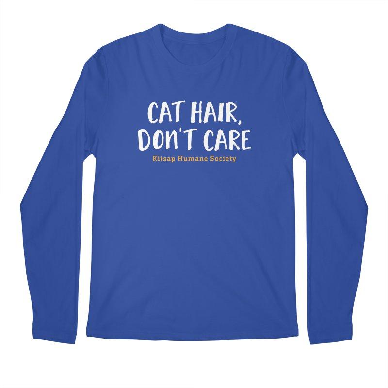 Cat Hair, Don't Care Men's Regular Longsleeve T-Shirt by Kitsap Humane Society's Artist Shop