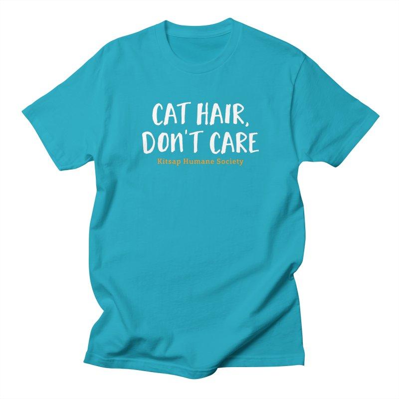 Cat Hair, Don't Care Men's T-Shirt by Kitsap Humane Society's Artist Shop