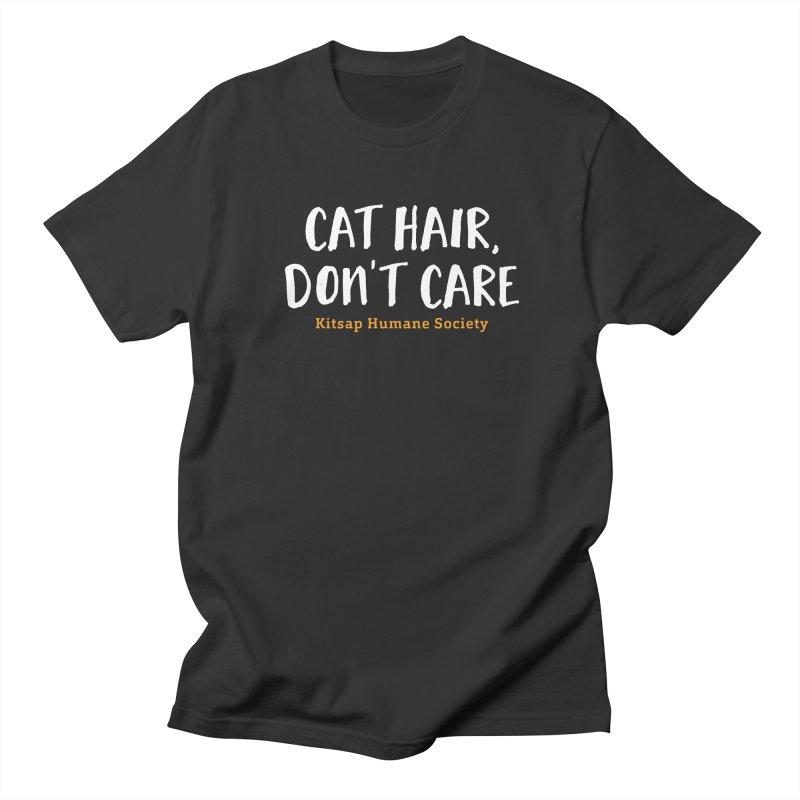 Cat Hair, Don't Care Men's Regular T-Shirt by Kitsap Humane Society's Artist Shop