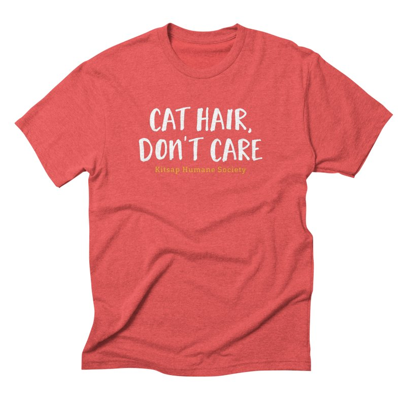 Cat Hair, Don't Care Men's Triblend T-Shirt by Kitsap Humane Society's Artist Shop