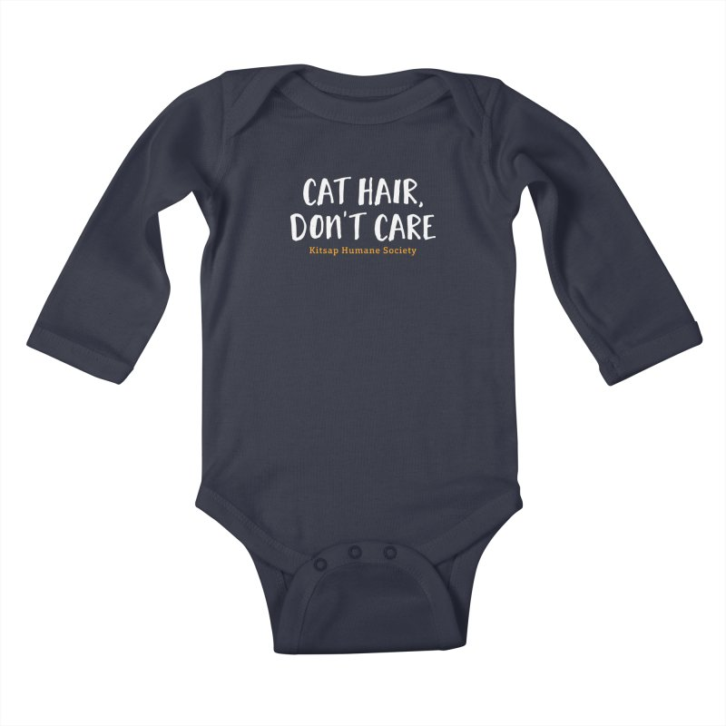 Cat Hair, Don't Care Kids Baby Longsleeve Bodysuit by Kitsaphumanesociety's Artist Shop
