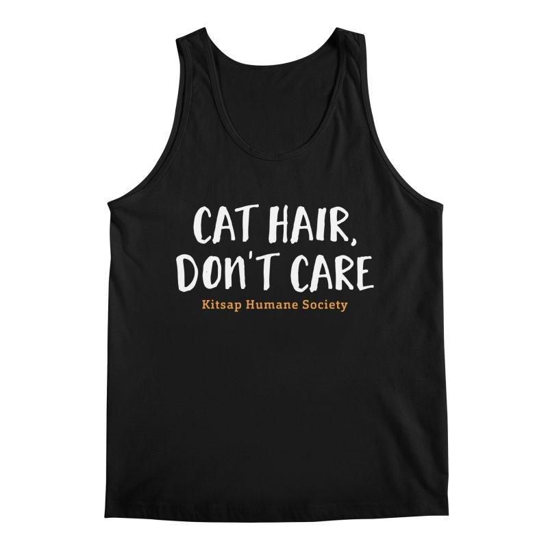 Cat Hair, Don't Care Men's Regular Tank by Kitsap Humane Society's Artist Shop