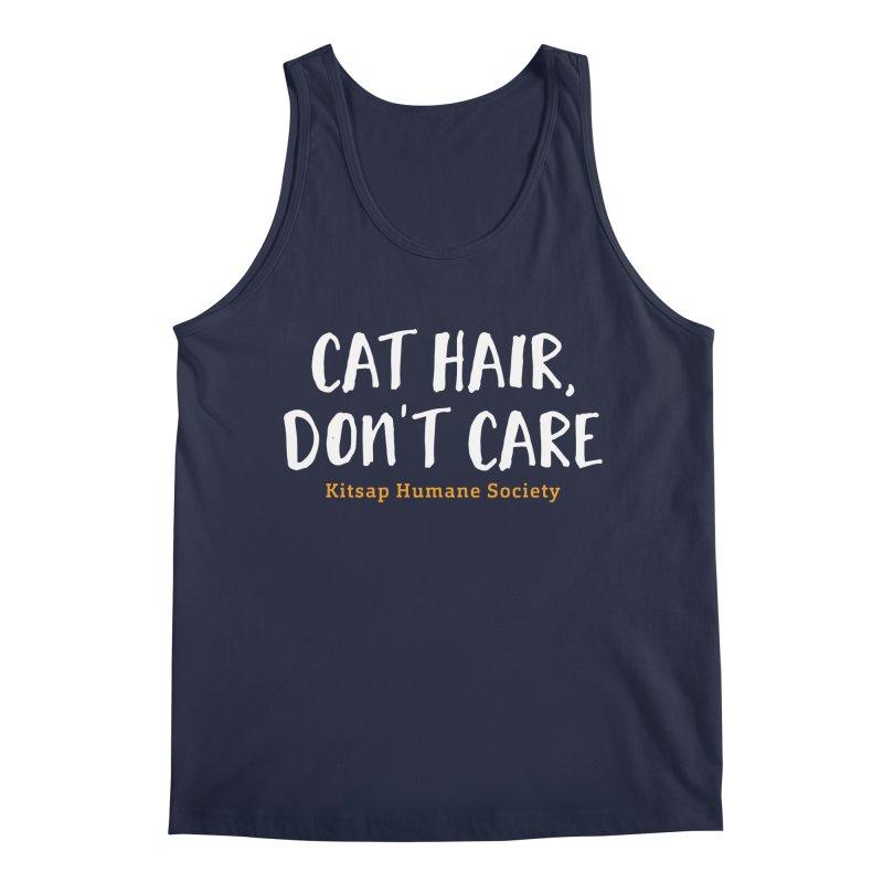 Cat Hair, Don't Care Men's Tank by Kitsap Humane Society's Artist Shop