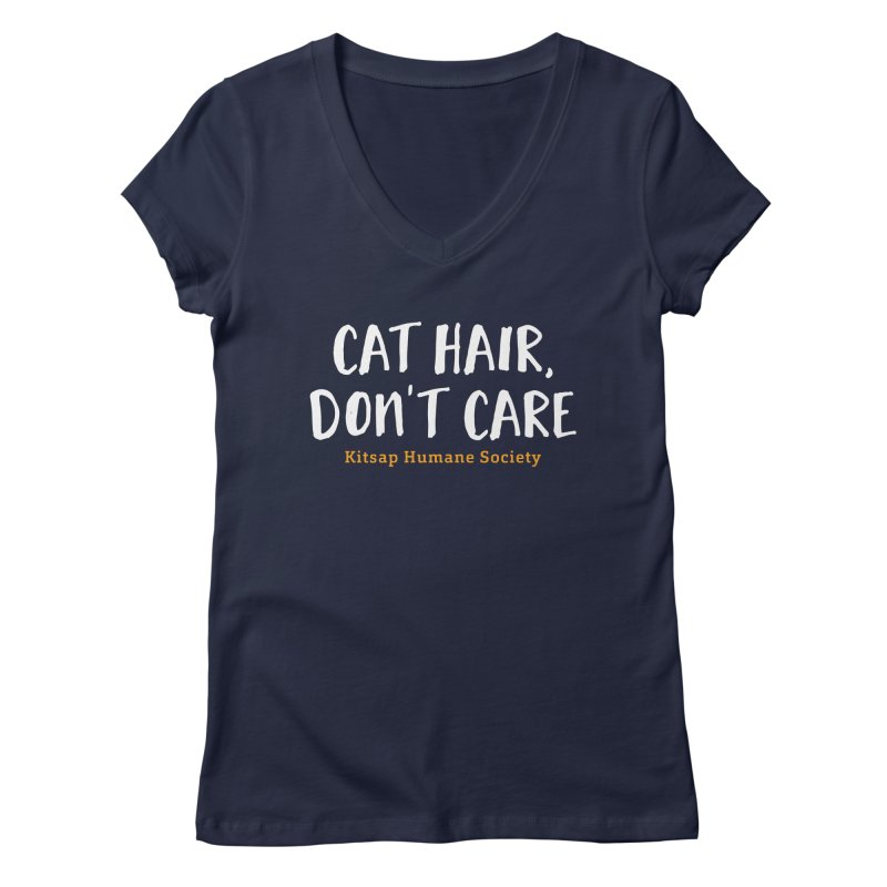 Cat Hair, Don't Care Women's Regular V-Neck by Kitsaphumanesociety's Artist Shop