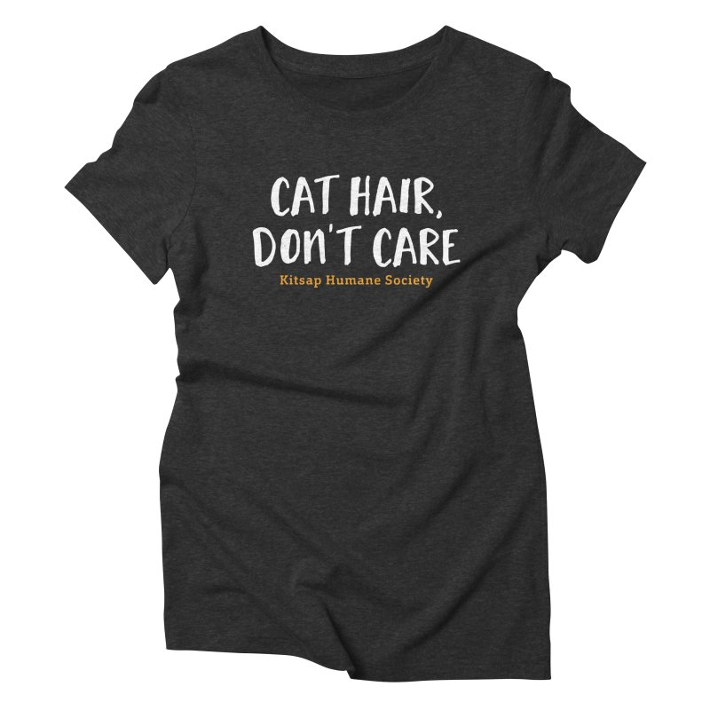 Cat Hair, Don't Care Women's Triblend T-Shirt by Kitsaphumanesociety's Artist Shop