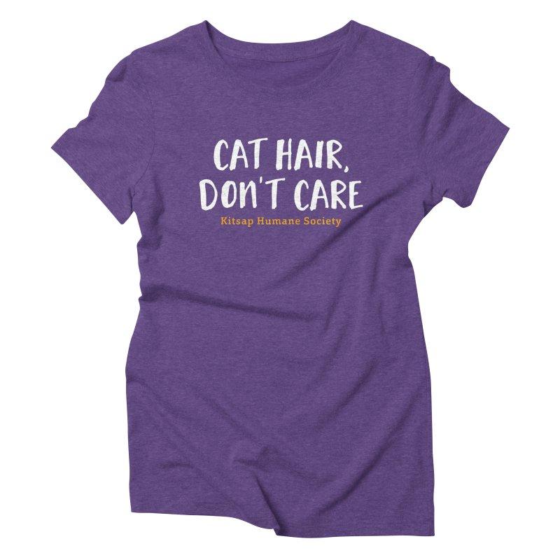 Cat Hair, Don't Care Women's Triblend T-Shirt by Kitsap Humane Society's Artist Shop