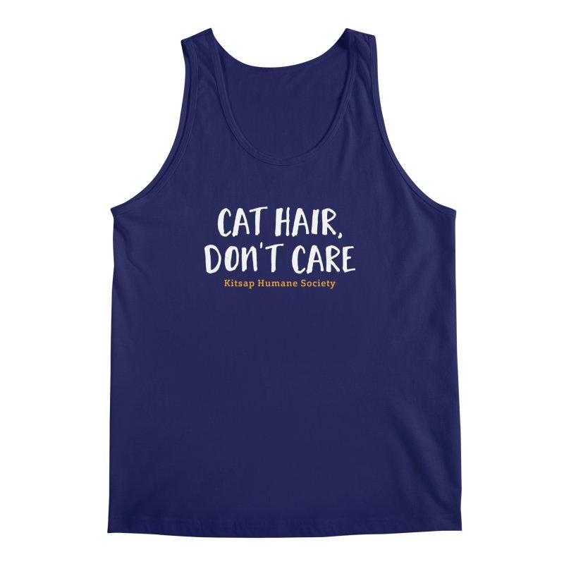 Cat Hair, Don't Care Men's Regular Tank by Kitsaphumanesociety's Artist Shop