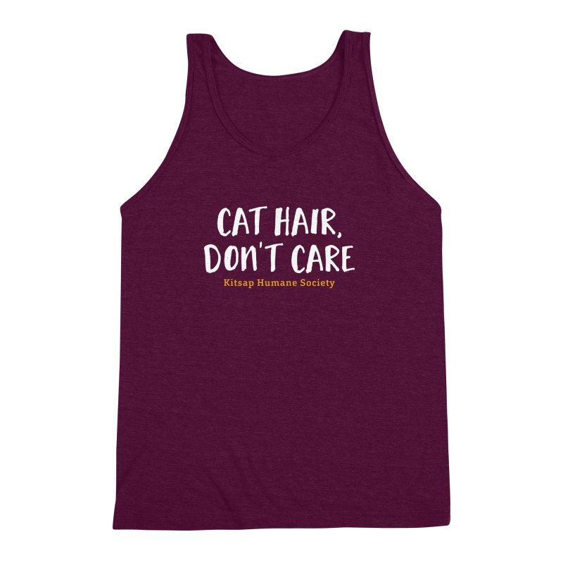 Cat Hair, Don't Care Men's Triblend Tank by Kitsap Humane Society's Artist Shop