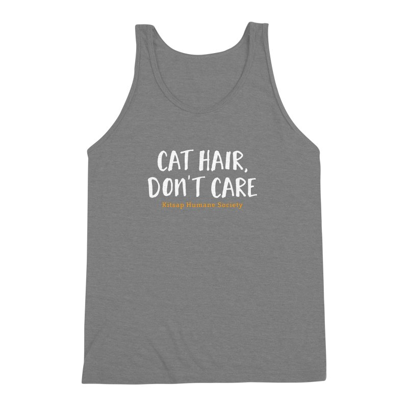 Cat Hair, Don't Care Men's Triblend Tank by Kitsaphumanesociety's Artist Shop