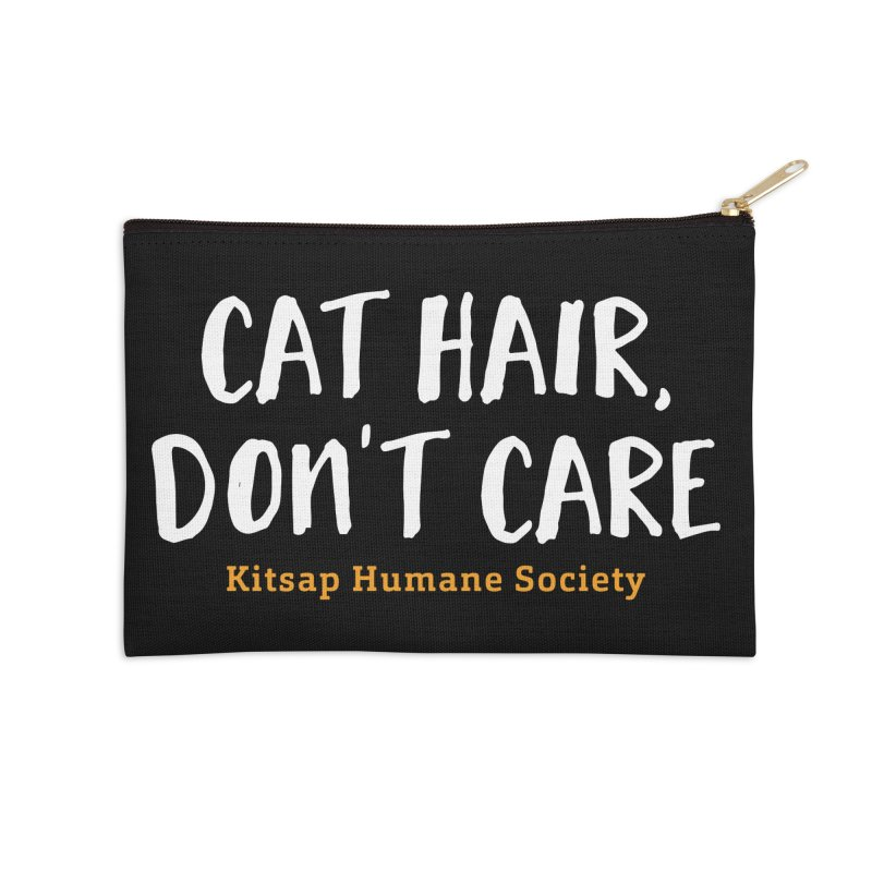 Cat Hair, Don't Care Accessories Zip Pouch by Kitsap Humane Society's Artist Shop