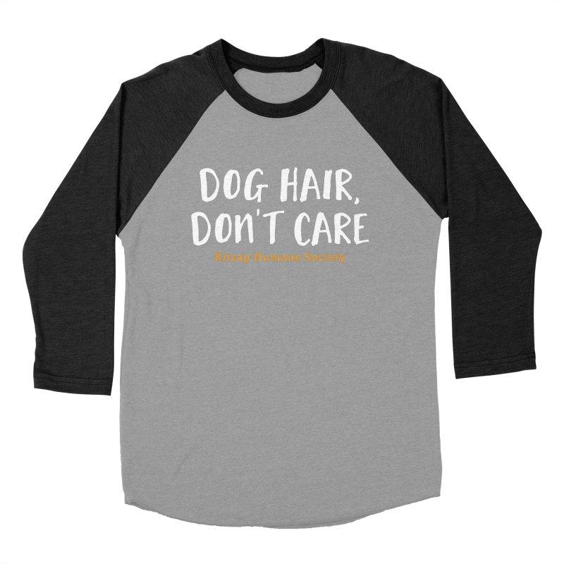 Dog Hair, Don't Care Men's Baseball Triblend Longsleeve T-Shirt by Kitsap Humane Society's Artist Shop