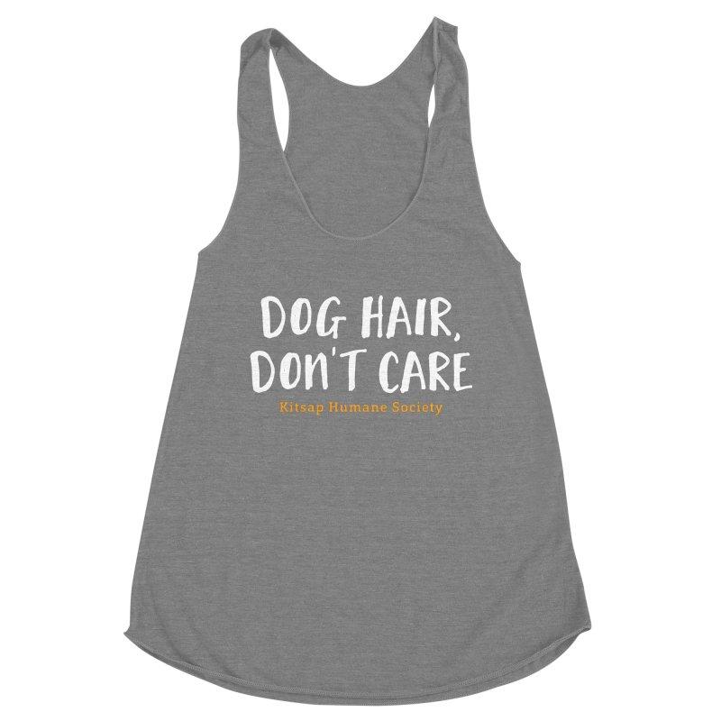 Dog Hair, Don't Care Women's Racerback Triblend Tank by Kitsap Humane Society's Artist Shop