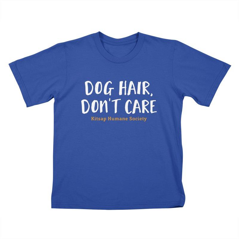 Dog Hair, Don't Care Kids T-Shirt by Kitsaphumanesociety's Artist Shop