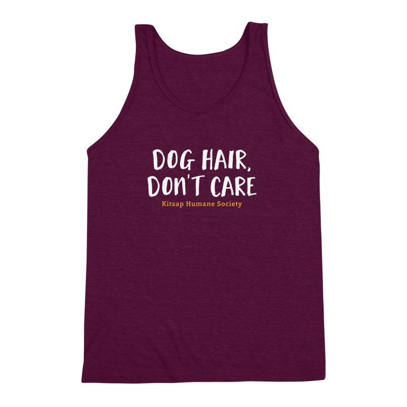 Dog Hair, Don't Care Men's Triblend Tank by Kitsap Humane Society's Artist Shop
