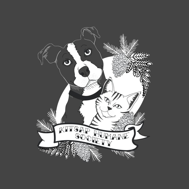 Tattoo Style KHS Men's Sweatshirt by Kitsap Humane Society's Artist Shop