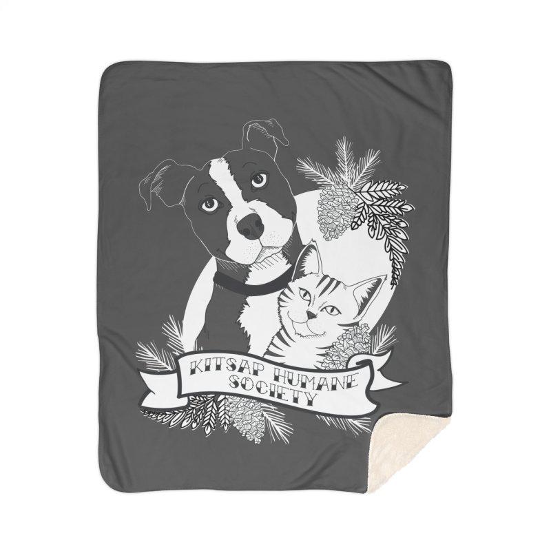 Tattoo Style KHS Home Sherpa Blanket Blanket by Kitsap Humane Society's Artist Shop