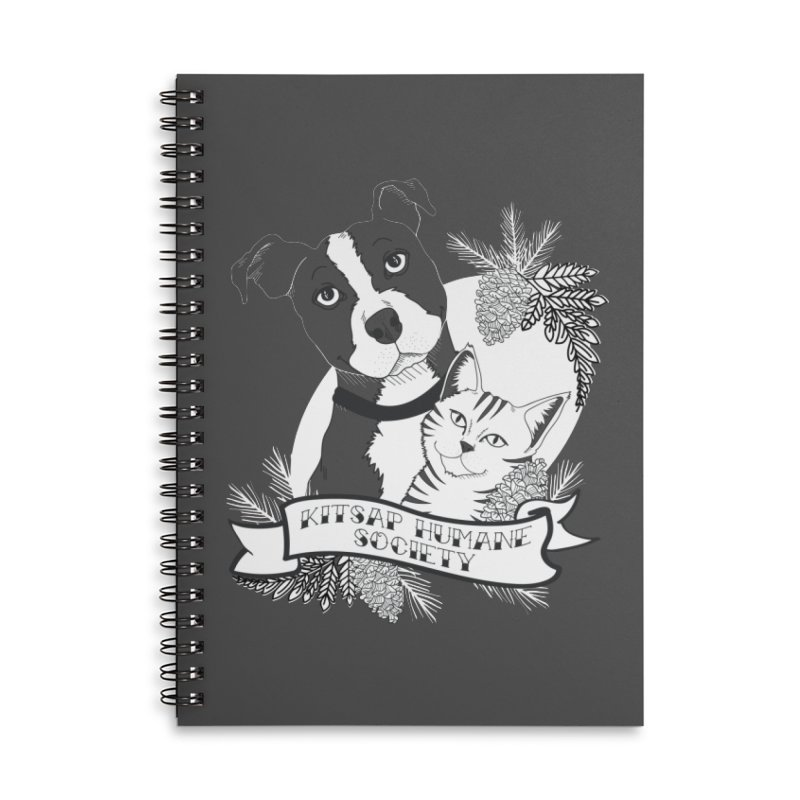 Tattoo Style KHS Accessories Lined Spiral Notebook by Kitsap Humane Society's Artist Shop