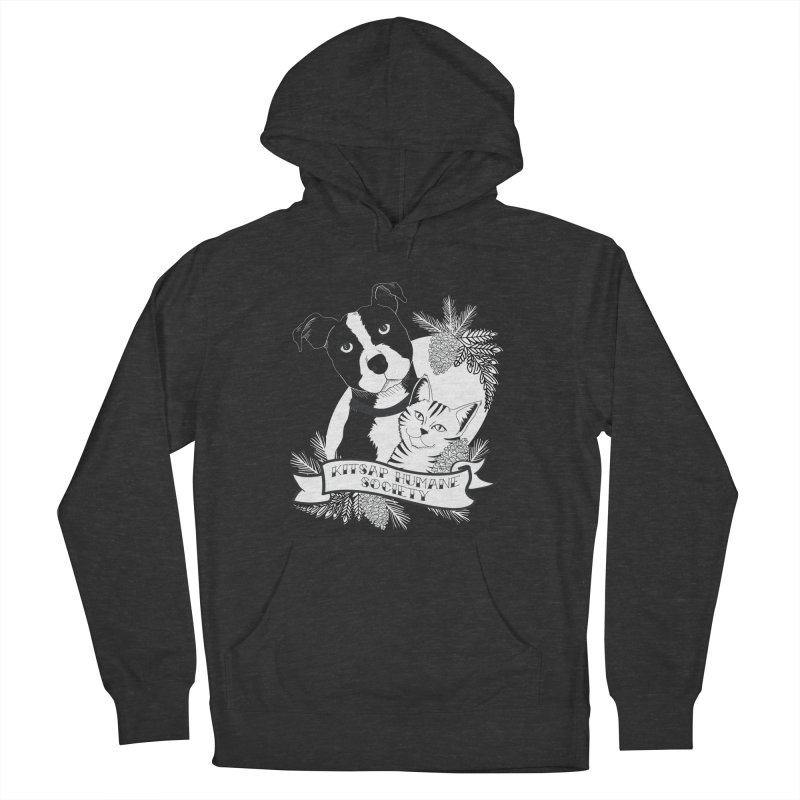 Tattoo Style KHS Men's French Terry Pullover Hoody by Kitsap Humane Society's Artist Shop