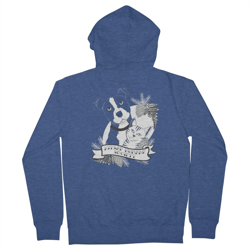 Tattoo Style KHS Men's French Terry Zip-Up Hoody by Kitsaphumanesociety's Artist Shop
