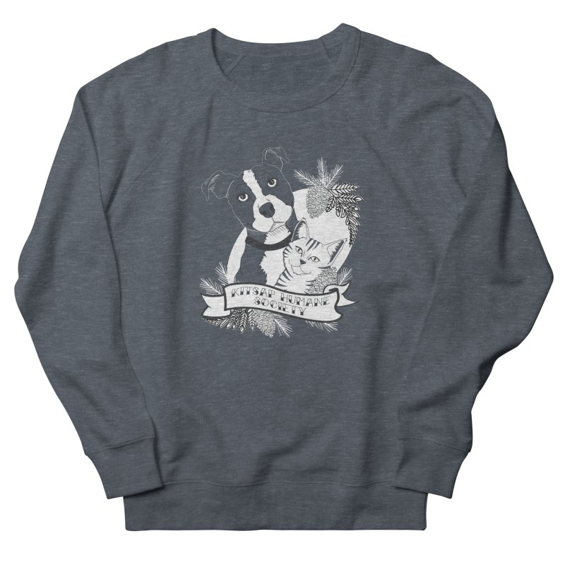 Tattoo Style KHS Women's French Terry Sweatshirt by Kitsap Humane Society's Artist Shop