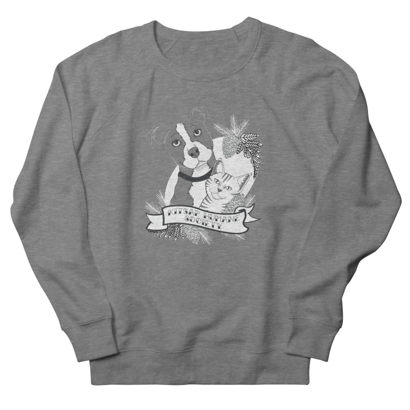 Tattoo Style KHS Men's French Terry Sweatshirt by Kitsap Humane Society's Artist Shop