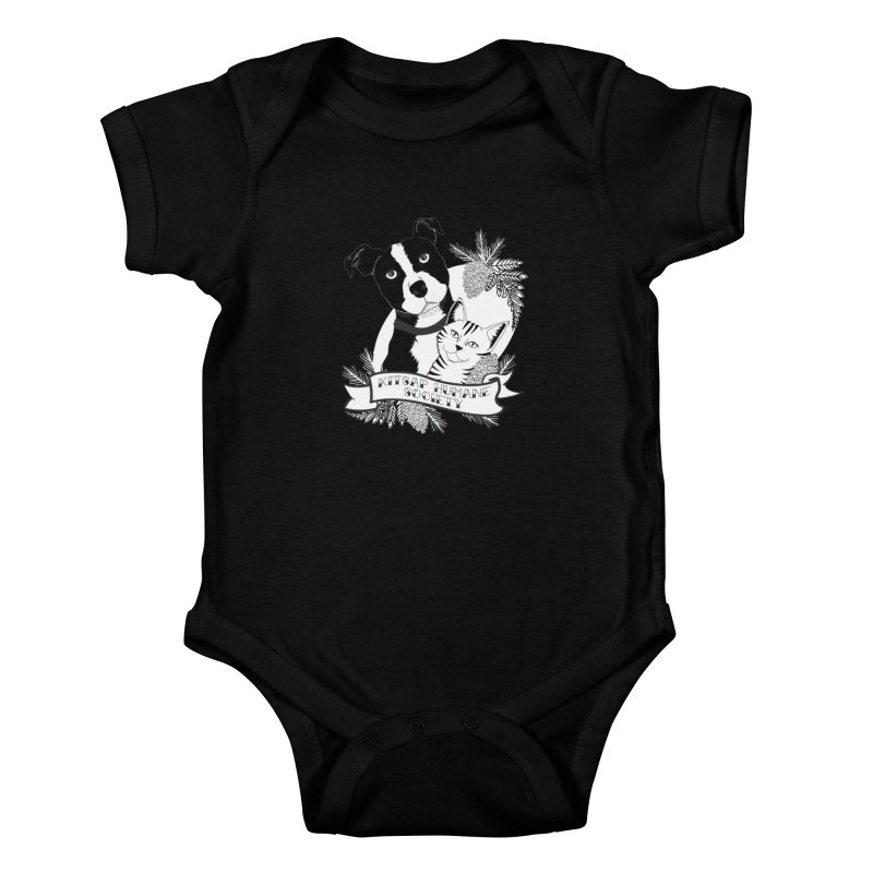 Tattoo Style KHS Kids Baby Bodysuit by Kitsap Humane Society's Artist Shop