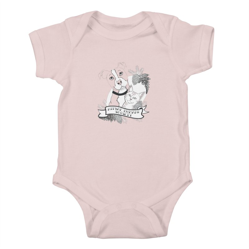 Tattoo Style KHS Kids Baby Bodysuit by Kitsap Humane Society's Artist Shop
